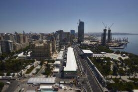 Baku Street circuit mainstraight up high