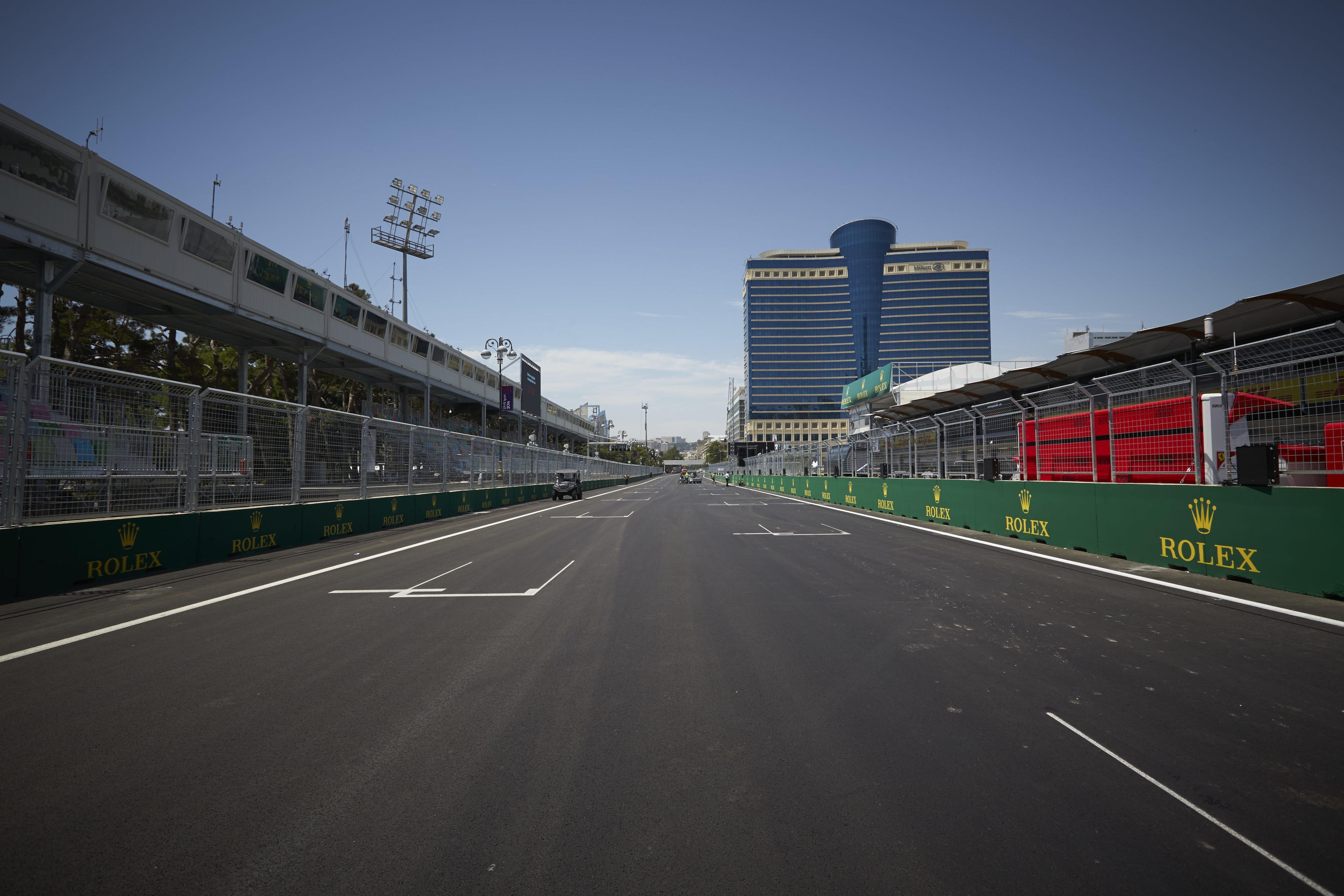 Baku Street circuit mainstraight
