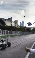 Nico Rosberg wins in his Mercedes W07 the first ever European F1 GP at Baku