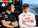 Max Verstappen in the garage