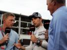 Sergio Perez getting interviewed