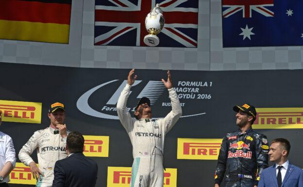 1. Hamilton 2. Rosberg 3. Ricciardo Hungarian GP F1/2016