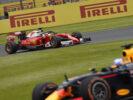 Sebastian Vettel in the Ferrari SF16-H
