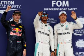 2016 British GP top 3 qualifiers: 1. Hamilton 2. Rosberg 3. Verstappen