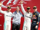 Lewis Hamilton, Max Verstappen and Nico Rosberg