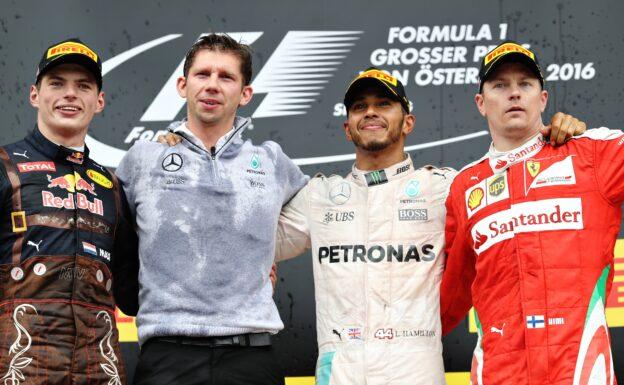2016 Austrian F! GP podium: 1. Lewis Hamilton 2. Max Verstappen 3. Kimi Raikkonen