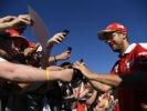 Sebastian Vettel wit Fans at GP BELGIUM F1/2016