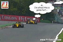 Magnussen horrible crash Belgian GP 2016