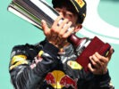 SPA, BELGIUM F1/2016: Daniel Ricciardo of Red Bull Racing celebrates on the podium.