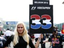 SPA, BELGIUM F1/2016: The grid girl of Max Verstappen of Red Bull Racing on the grid.