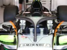 Sahara Force India F1 VJM09 with a Halo cockpit cover. Belgian Grand Prix 2016.