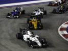 Marina Bay Circuit, Marina Bay, Singapore 2016 Felipe Massa, leads Kevin Magnussen, Valtteri Bottas and Marcus Ericsson