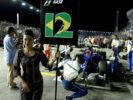 Felipe Nasr pit girl Singapore GP F1/2016