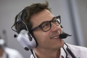 Wolff says he is happy as Mercedes boss