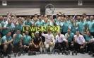 2016 Singapore Mercedes 1-3 finish team celebration