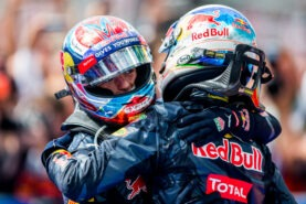 Daniel Ricciardo and Max Verstappen of Red Bull Racing during the F1 GP of Germany at Hockenheimring 2016
