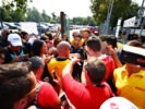MONZA, ITALY F1/2016 Daniel Ricciardo of Red Bull Racing is swamped by fans.