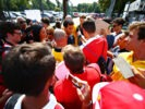 MONZA, ITALY F1/2016: Daniel Ricciardo Red Bull Racing is swamped by fans.