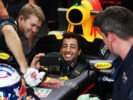 MONZA, ITALY F1/2016: Daniel Ricciardo of Red Bull Racing takes a selfie in the garage.