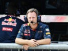 MONZA, ITALY F1/2016: Red Bull Racing Team Principal Christian Horner on the pit wall.