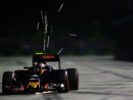 Carlos Sainz on track during practice for the Formula One Grand Prix of Singapore 2016