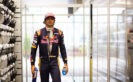 Carlos Sainz in the garage during qualifying for the Formula One Grand Prix of Singapore 2016