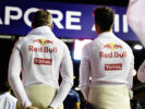 Max Verstappen and Daniel Ricciardo on the grid during the Formula One Grand Prix of Singapore 2016