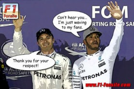 Report: Hamilton not happy with Rosberg interview