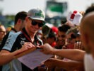 Nico Hulkenberg Sahara Force India F1 signs autographs for the fans. Monza-Italian Grand Prix 2016.