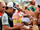 Sergio Perez Sahara Force India F1 signs autographs for the fans. Monza-Italian Grand Prix 2016.
