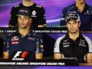 Daniel Ricciardo with Sergio Perez F1/2016 in the FIA Press Conference. Singapore Grand Prix.