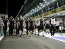 Sergio Perez Sahara Force India F1 walks the circuit with the team. Singapore Grand Prix F1/2016.