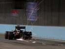 Sergio Perez Sahara Force India F1 VJM09 sends sparks flying. Singapore Grand Prix F1/2016.