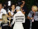 Nico Hulkenberg Sahara Force India F1 with the media. Singapore Grand Prix F1/2016