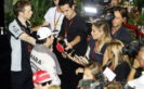 Sergio Perez Sahara Force India F1 with the media. Singapore Grand Prix F1/2016