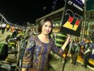 Grid girl for Nico Hulkenberg Sahara Force India F1. Singapore Grand Prix F1/2016
