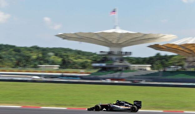 Sergio Perez (MEX) Sahara Force India F1 VJM09. Malaysian Grand Prix 2016