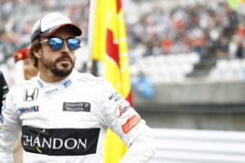 Fernando Alonso on the grid.