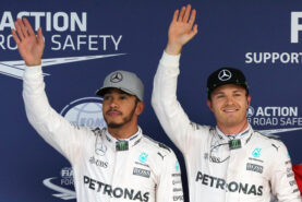 Lewis Hamilton and Nico Rosberg will start from front row at the 2016 Japanese GP
