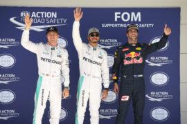 Top 3 qualifiers 2016 US GP: 1. Hamilton 2. Rosberg 3. Ricciardo
