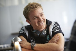 Rosberg shows driving skill on Silverstone in a Porsche 918