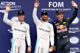 2016 Malaysian GP top 3 qualifiers: Lewis Hamilton, Nico Rosberg & Max Verstappen