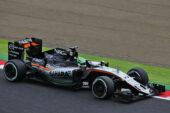 Nico Hulkenberg driving the Force India F1 VJM09 Japanese Grand Prix (2016)