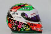 2016 Sergio Perez helmet Mexican Grand Prix