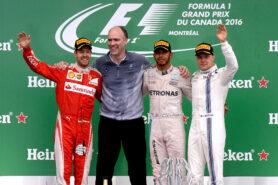 1. Lewis Hamilton 2. Sebastian Vettel 3.Valtteri Bottas GP CANADA F1/2016