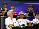 FIA Race Director, Charlie Whiting makes an appearance in the Drivers Press Conference featuring. BrazilianGP F1/2016.