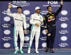Top 3 qualifiers 2016 Abu Dhabi GP: 1. Hamilton 2. Rosberg 3. Ricciardo