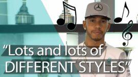 Lewis Hamilton reveals what's on his music playlist