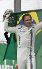 Interlagos, Sao Paulo, Brazil. An emotional Felipe Massa, Williams Martini Racing, makes his way back to the garage after retiring from the race. 2016