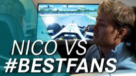 CHALLENGE NICO! Who can beat the F1 champion in the simulator?!